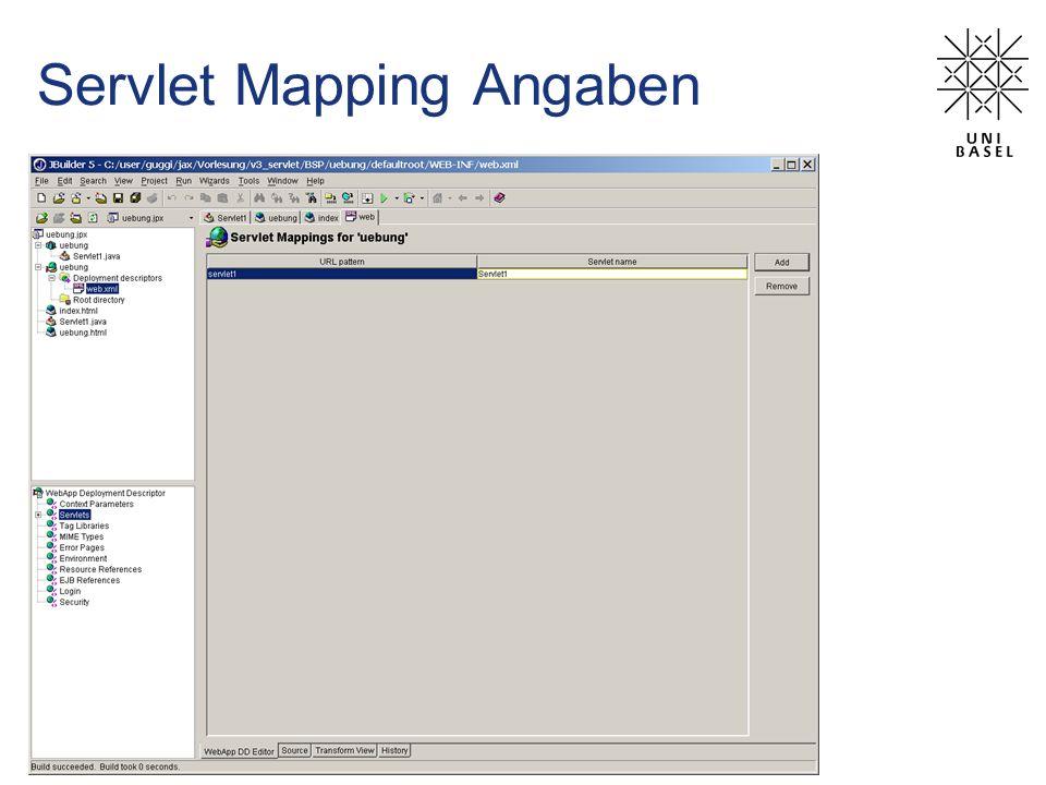 Servlet Mapping Angaben