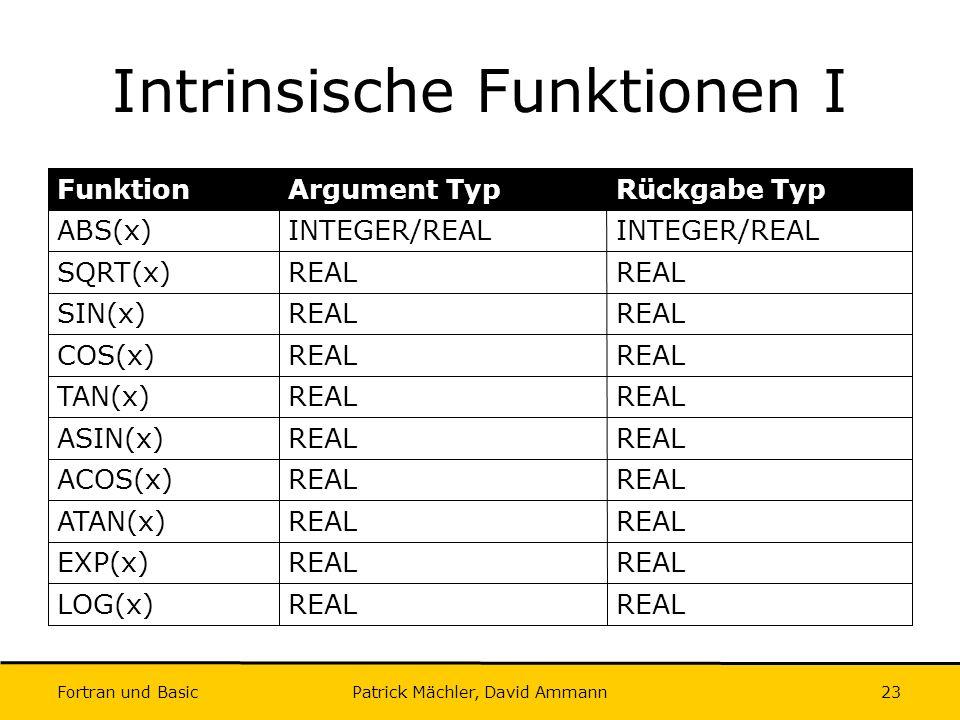 Intrinsische Funktionen I