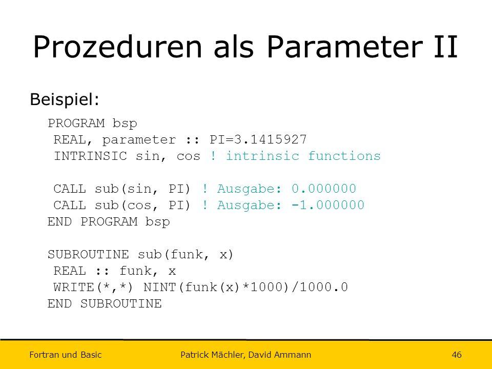 Prozeduren als Parameter II