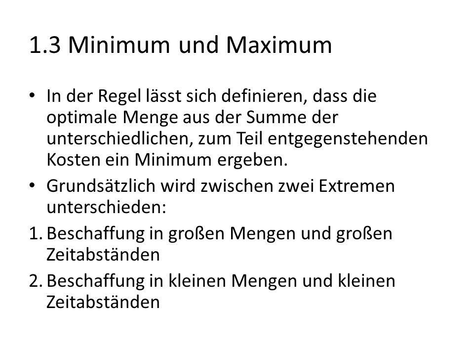 1.3 Minimum und Maximum
