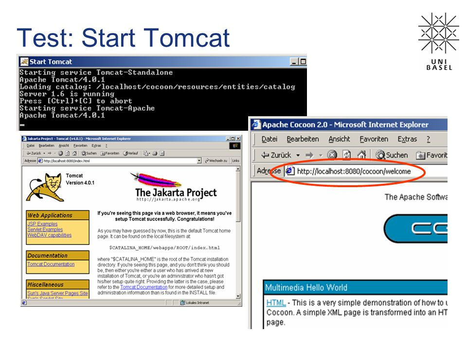 Test: Start Tomcat