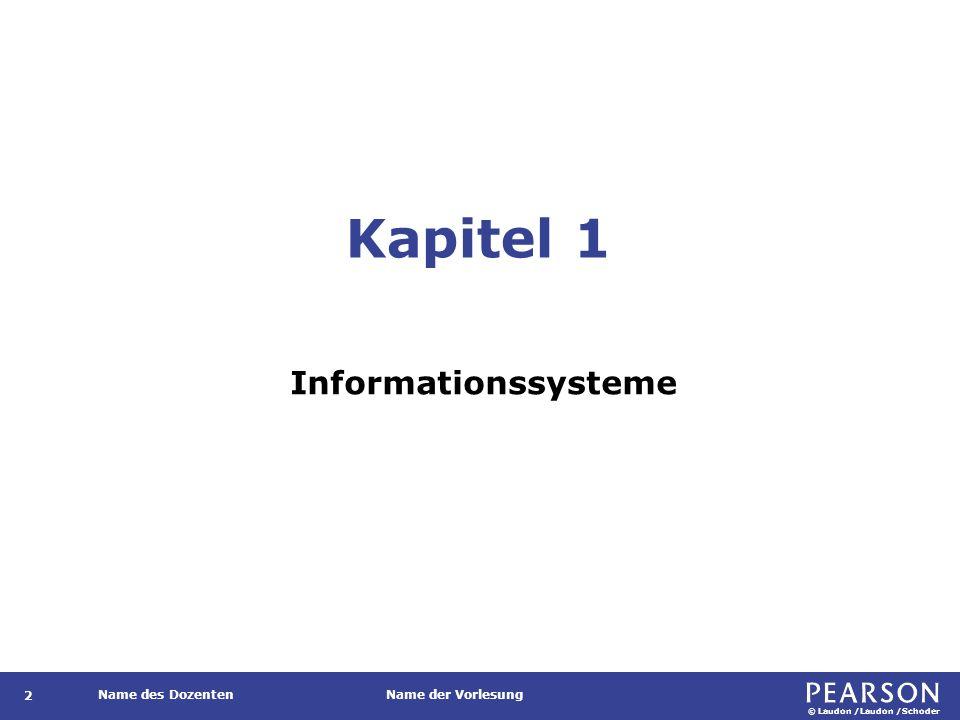 Gegenstand Informationssysteme im Unternehmenskontext.
