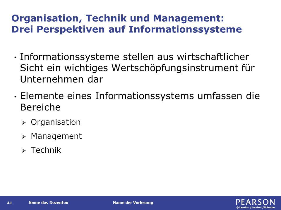 Informationssysteme umfassen mehr als nur die technische Dimension