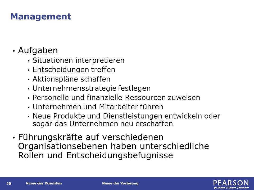 Top-Management Personen, die sich in der obersten Hierarchieebene des Unternehmens befinden und für langfristige Entscheidungen zuständig sind.