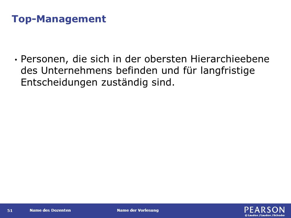 Mittleres Management Definition.