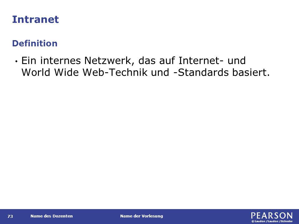 Extranet Definition Privates Intranet, auf das autorisierte Außenstehende zugreifen können.
