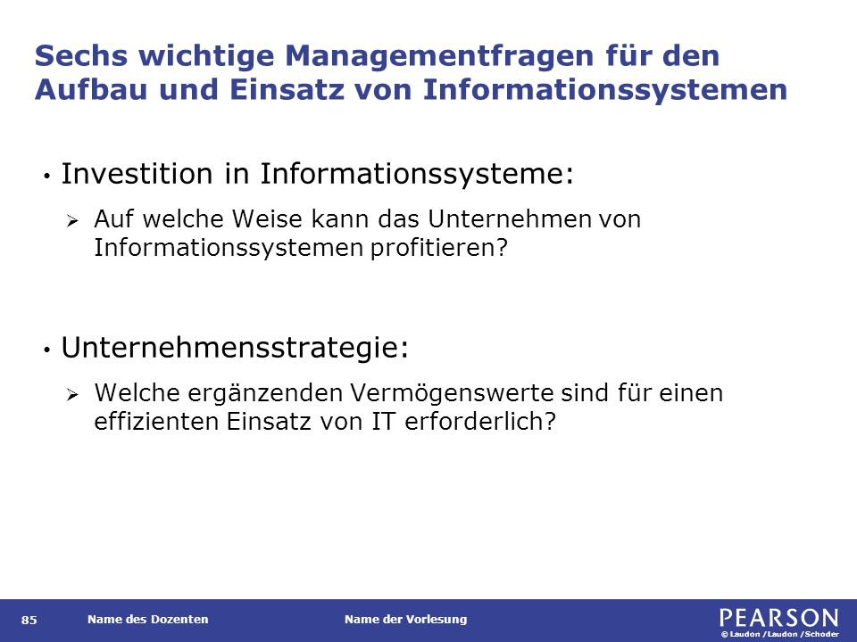 Informationsarchitektur und IT-Infrastruktur: