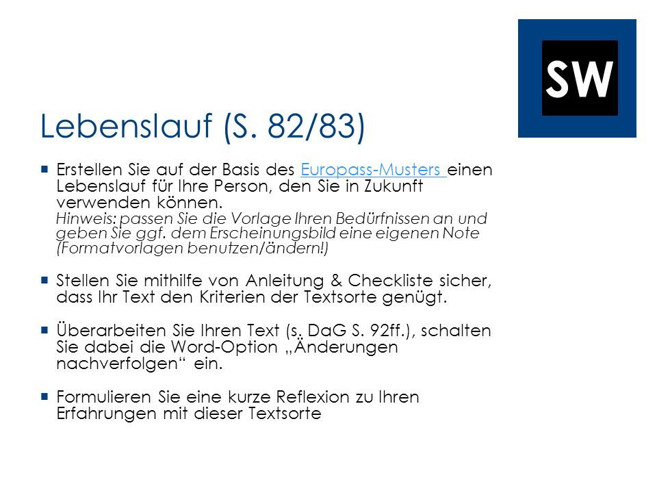 Lebenslauf (S. 82/83)