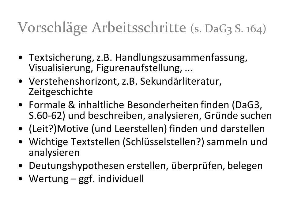 Vorschläge Arbeitsschritte (s. DaG3 S. 164)