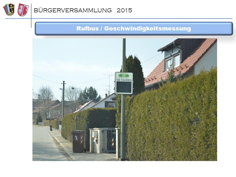 Rufbus / Geschwindigkeitsmessung