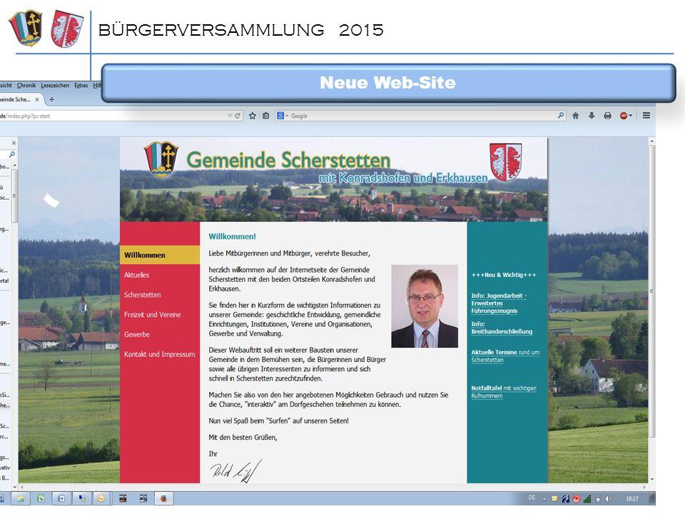 BÜRGERVERSAMMLUNG 2015 Neue Web-Site ^dsfgdfg