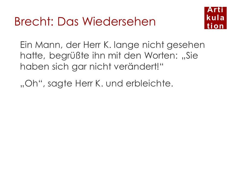 Brecht: Das Wiedersehen