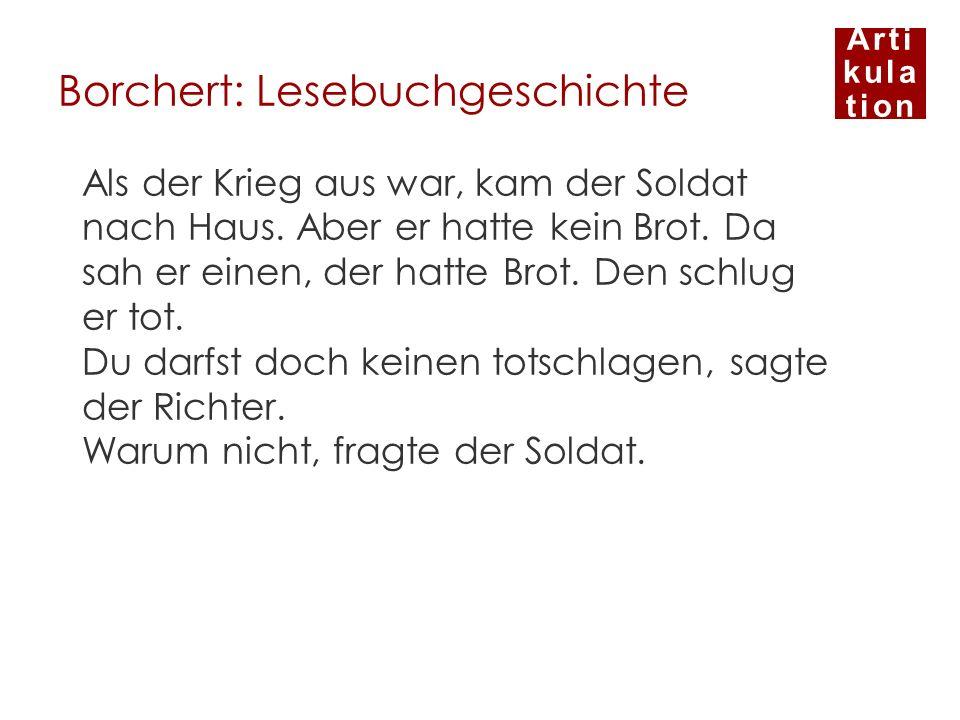 Borchert: Lesebuchgeschichte