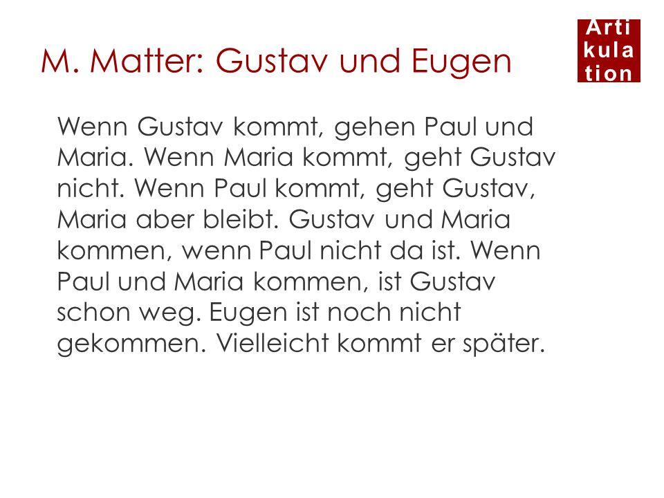 M. Matter: Gustav und Eugen