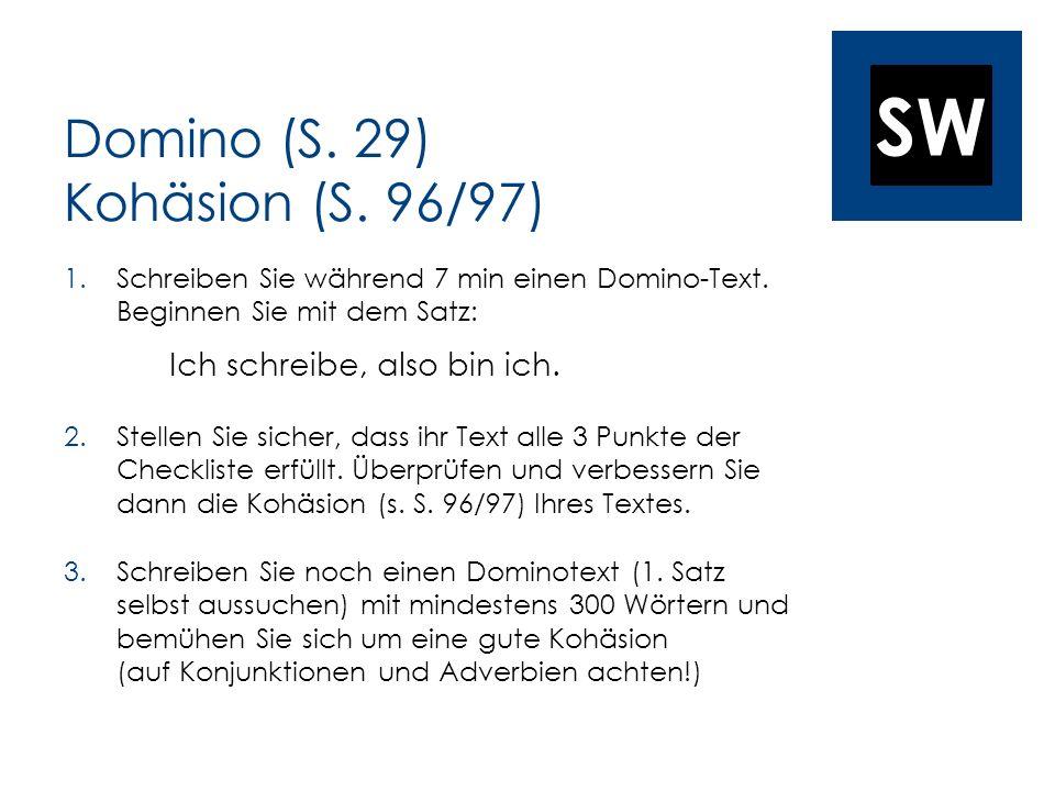 Domino (S. 29) Kohäsion (S. 96/97)