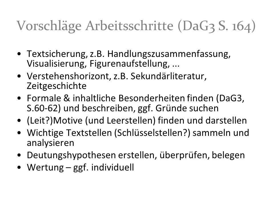 Vorschläge Arbeitsschritte (DaG3 S. 164)