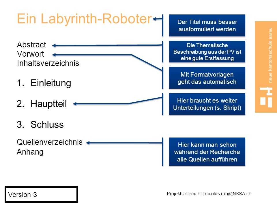 Ein Labyrinth-Roboter