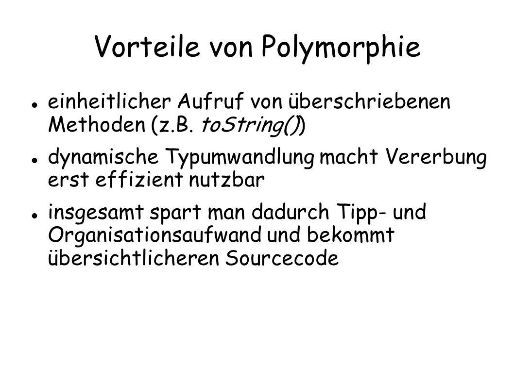 Vorteile von Polymorphie