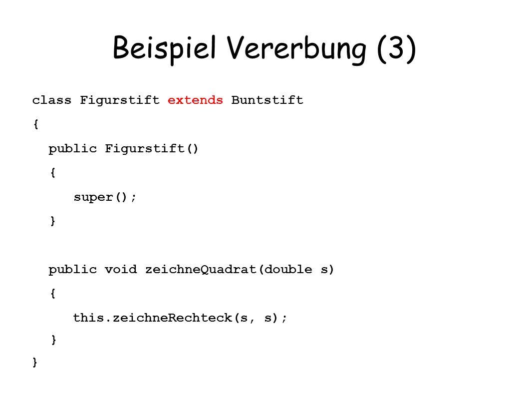 Beispiel Vererbung (3)
