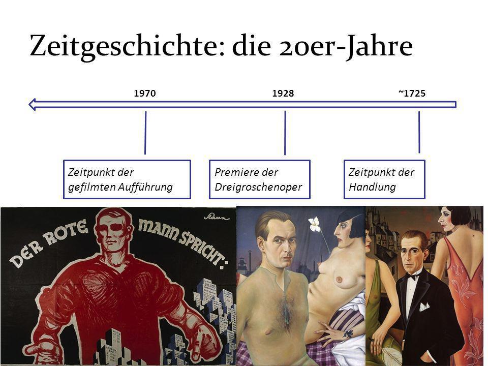 Zeitgeschichte: die 20er-Jahre