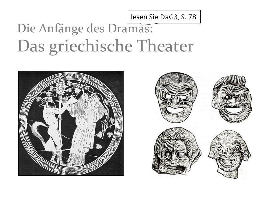 Die Anfänge des Dramas: Das griechische Theater