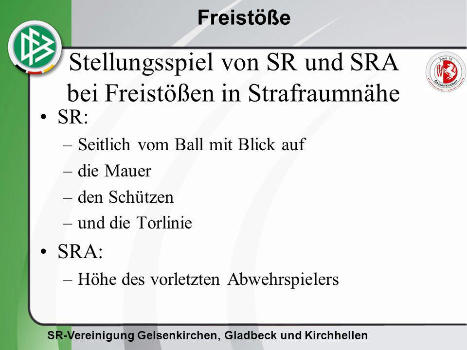 Stellungsspiel von SR und SRA bei Freistößen in Strafraumnähe