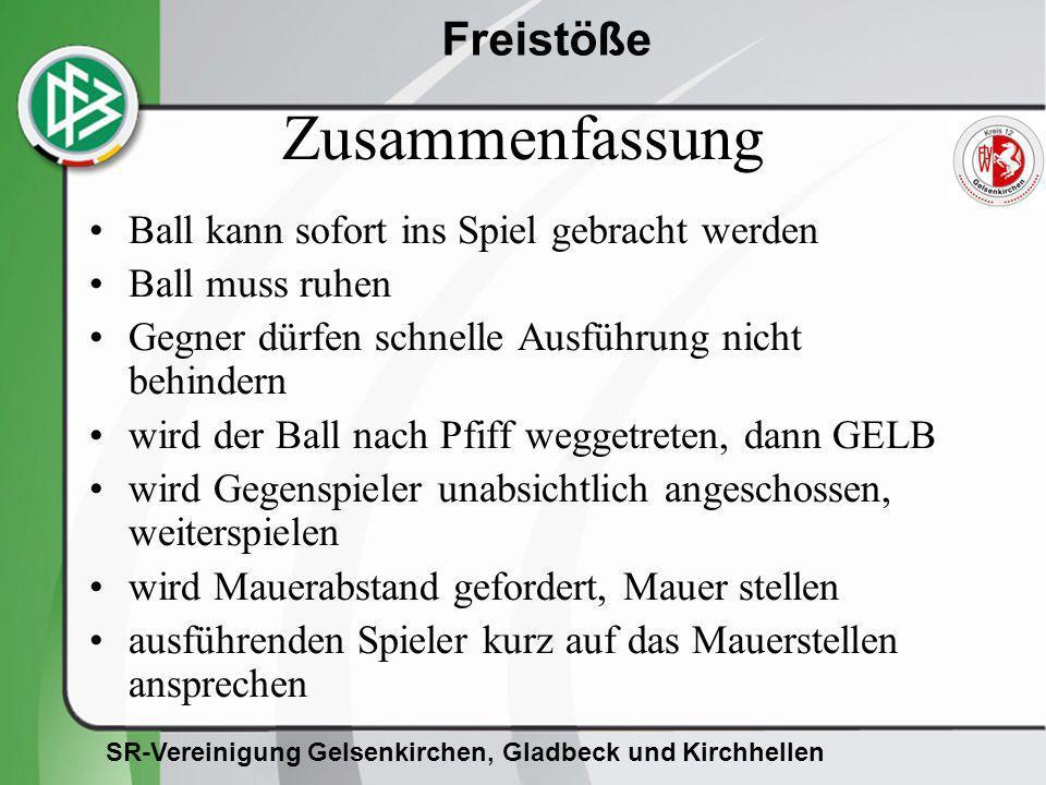 Zusammenfassung Ball kann sofort ins Spiel gebracht werden