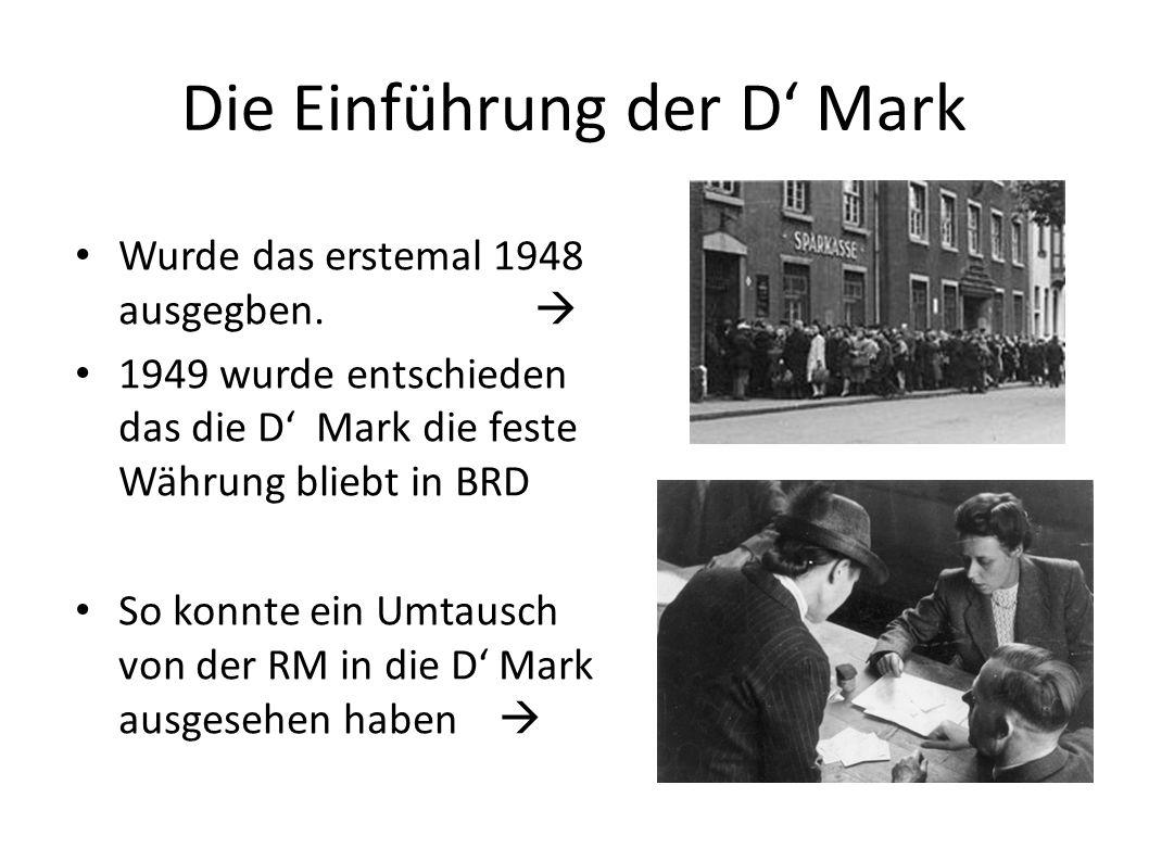 Die Einführung der D' Mark