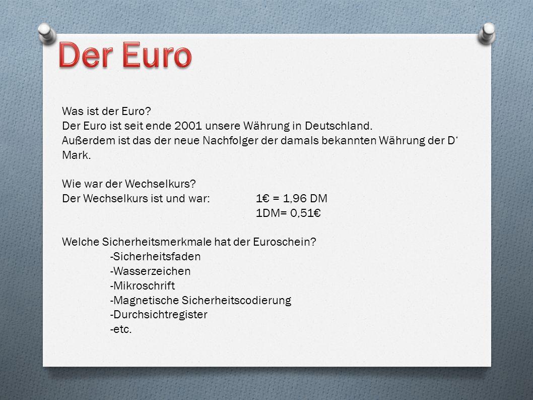 Der Euro Was ist der Euro