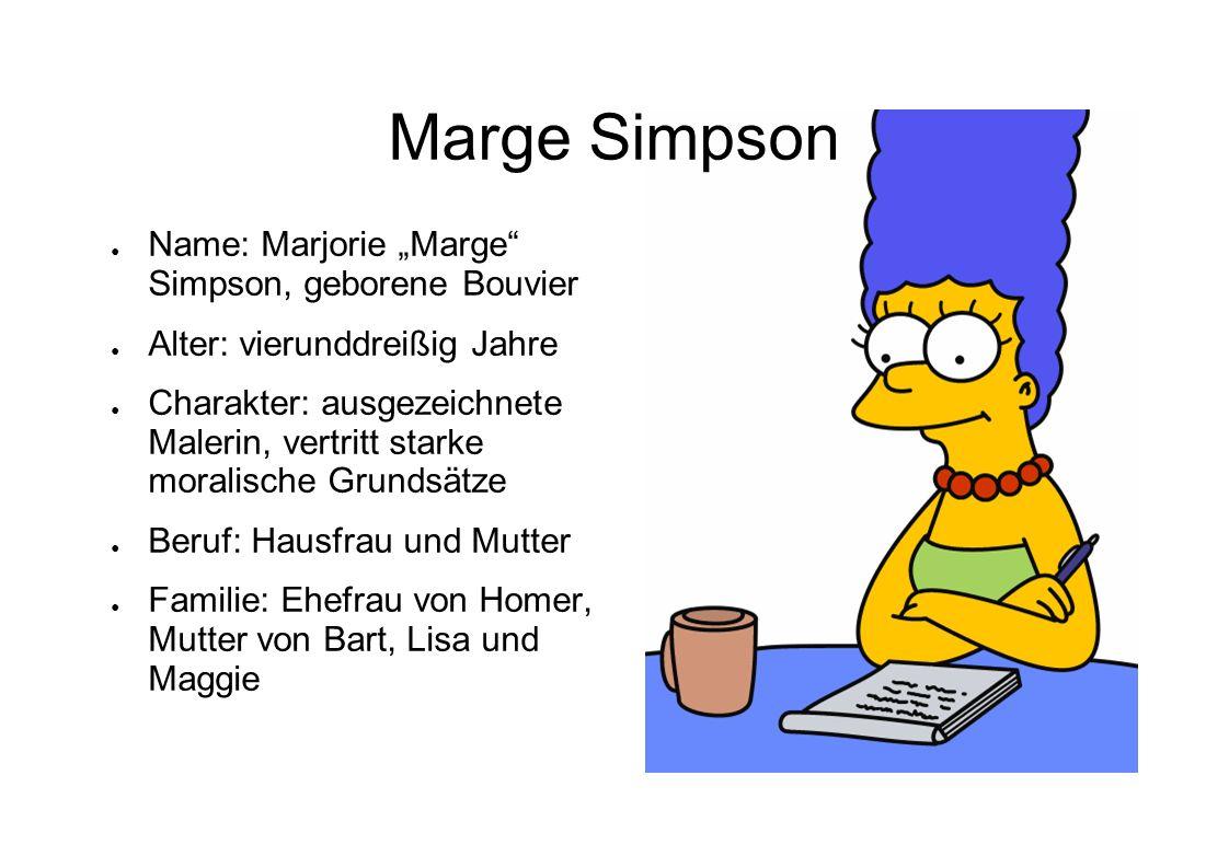 """Marge Simpson Name: Marjorie """"Marge Simpson, geborene Bouvier"""