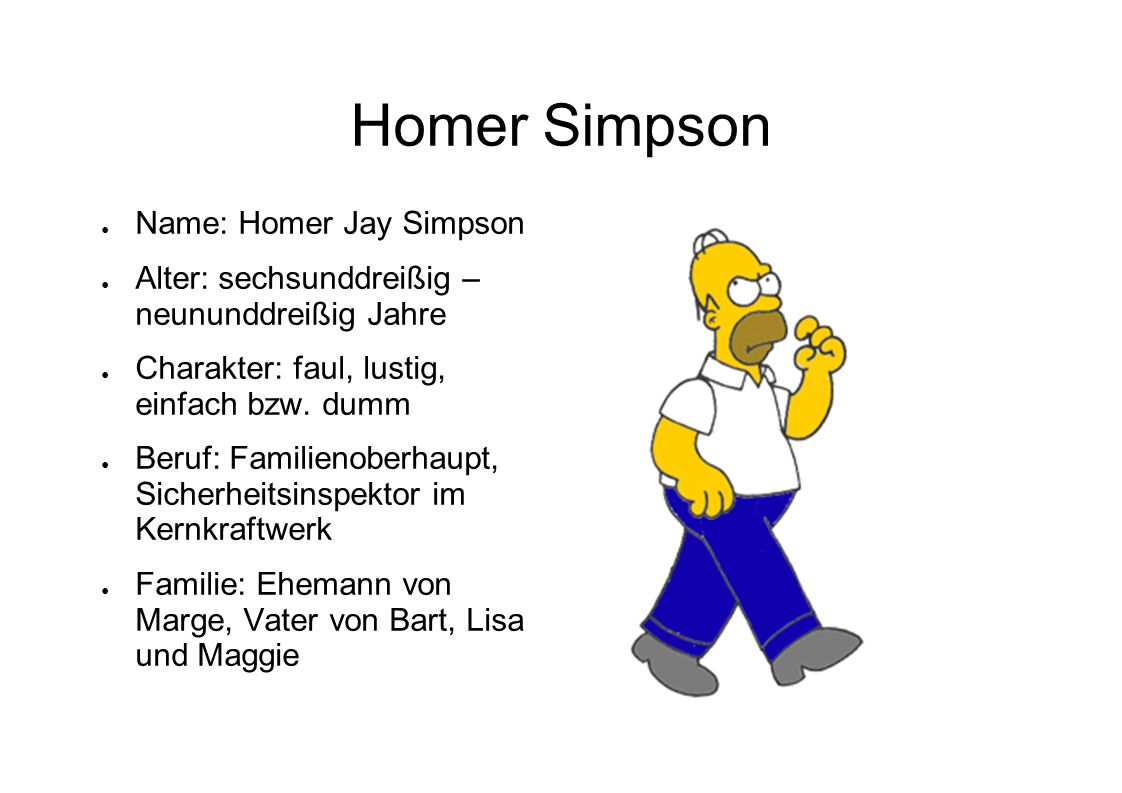 Homer Simpson Name: Homer Jay Simpson