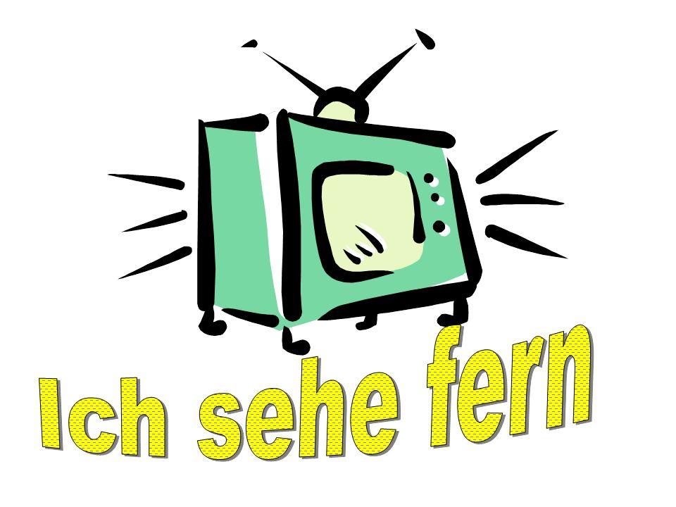 Ich sehe fern