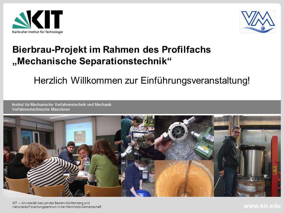 """Bierbrau-Projekt im Rahmen des Profilfachs """"Mechanische Separationstechnik"""