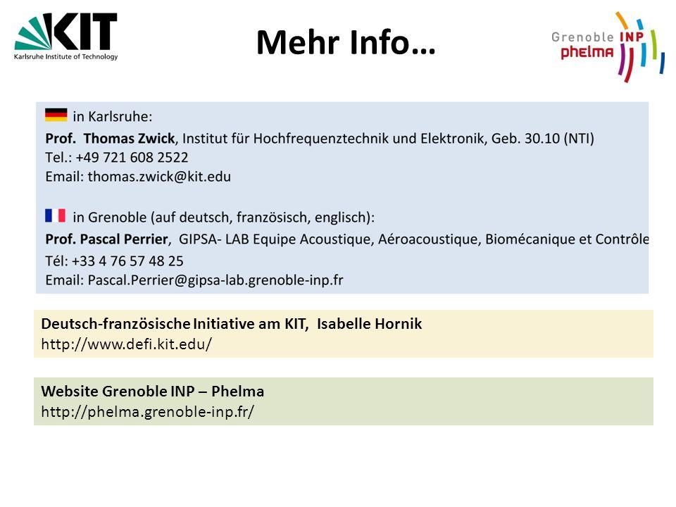 Mehr Info… Deutsch-französische Initiative am KIT, Isabelle Hornik
