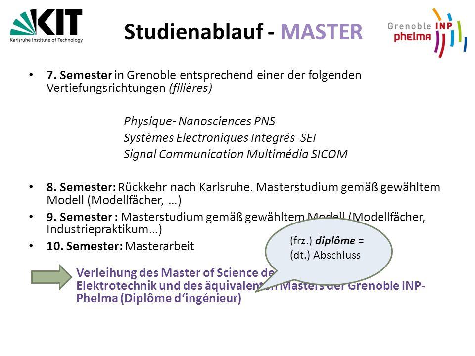 Studienablauf - MASTER