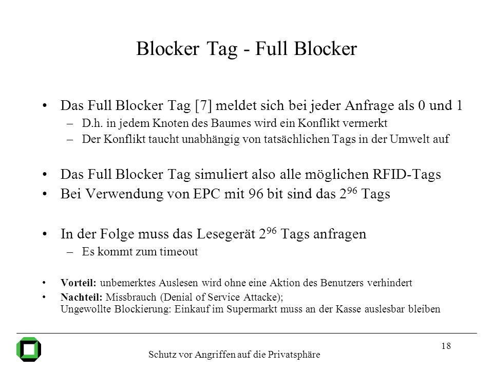 Blocker Tag - Full Blocker