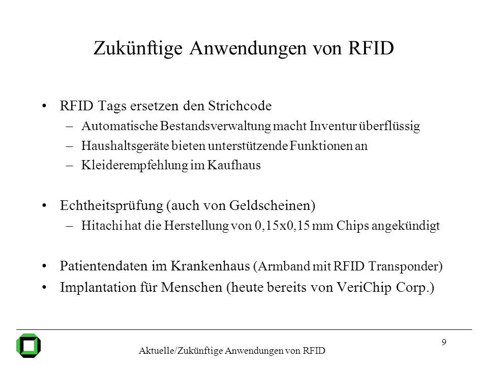Zukünftige Anwendungen von RFID
