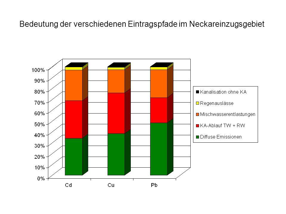 Bedeutung der verschiedenen Eintragspfade im Neckareinzugsgebiet