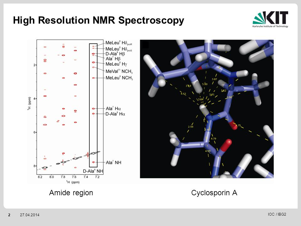 High Resolution NMR Spectroscopy