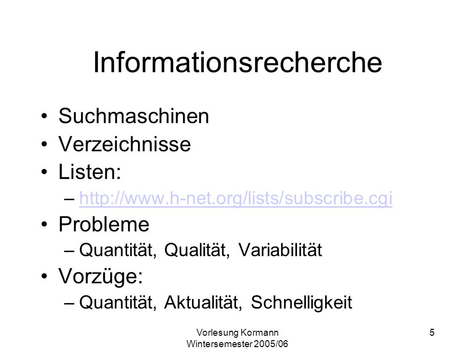 Informationsrecherche