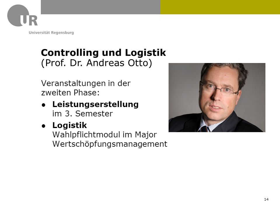 Controlling und Logistik (Prof. Dr. Andreas Otto)
