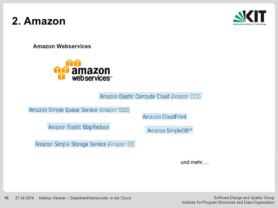 2. Amazon Markus Oelsner – Datenbankframeworks in der Cloud