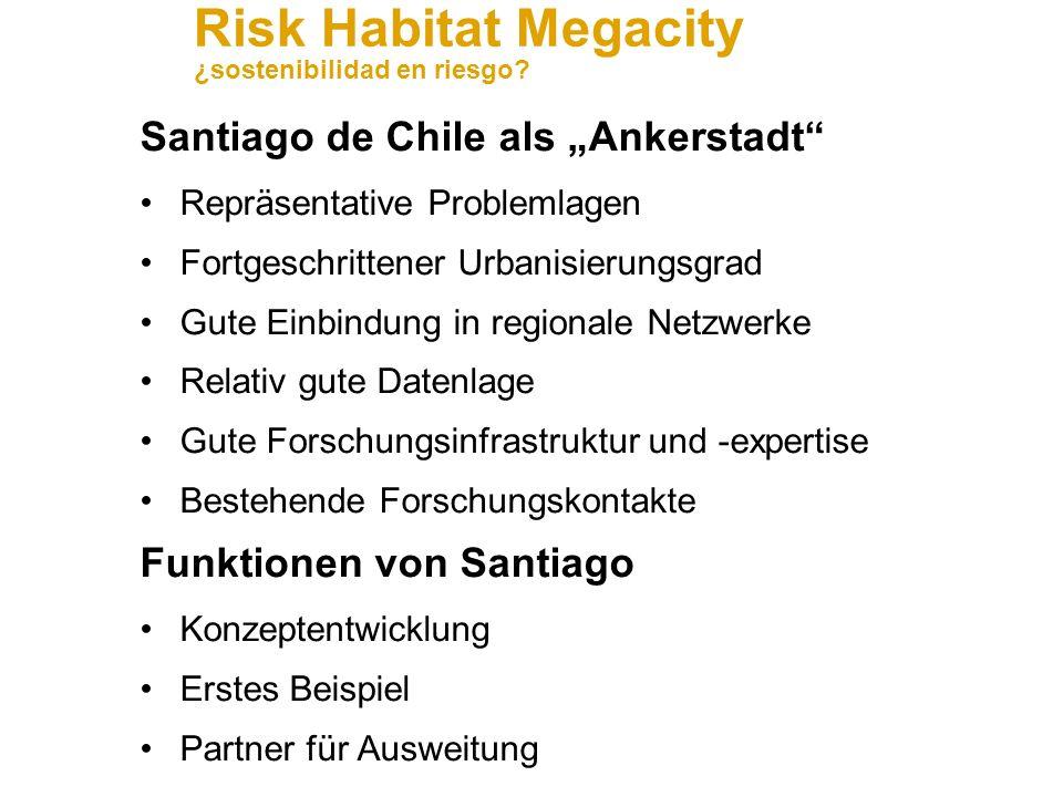 """Santiago de Chile als """"Ankerstadt"""
