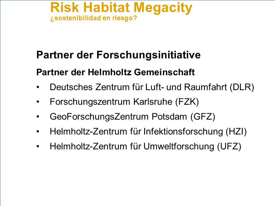 Partner der Forschungsinitiative