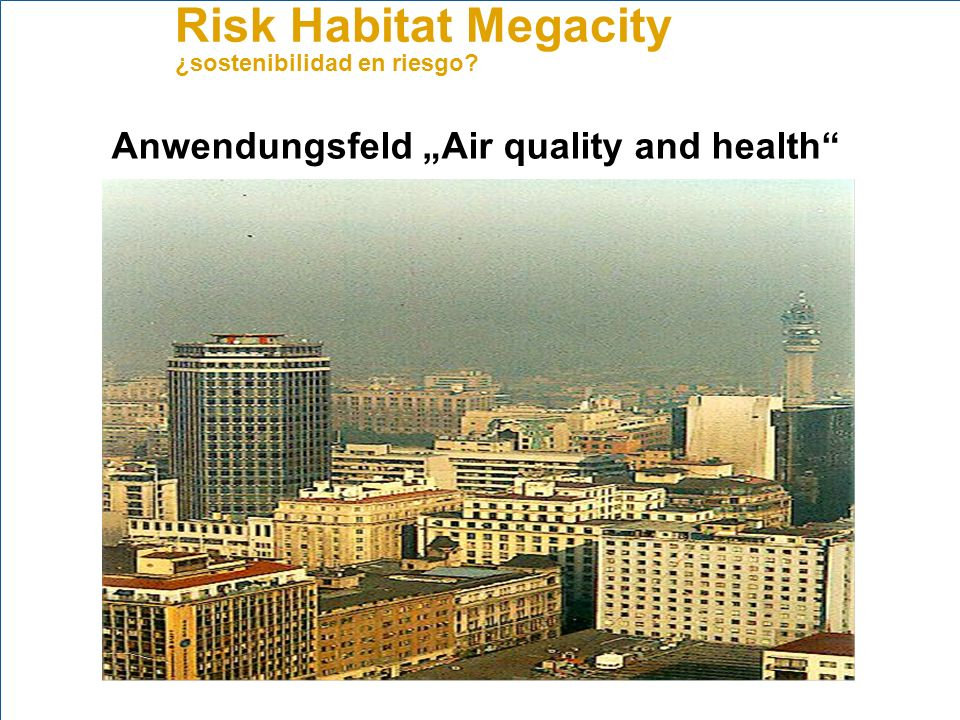 "Anwendungsfeld ""Air quality and health"