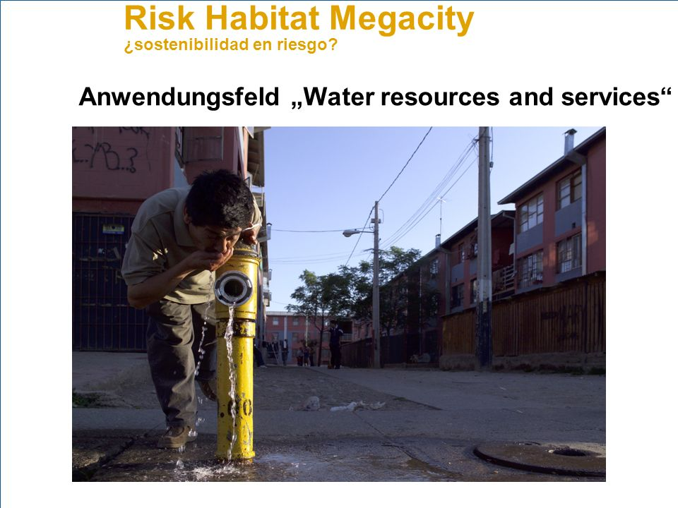 "Anwendungsfeld ""Water resources and services"