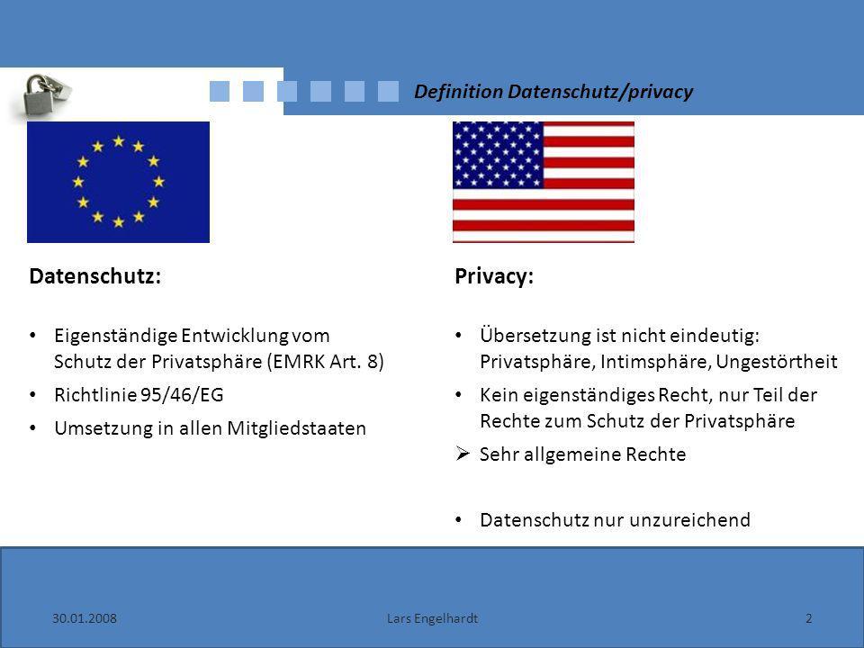 Definition Datenschutz/privacy