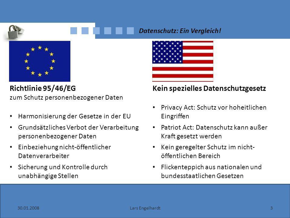 Datenschutz: Ein Vergleich!