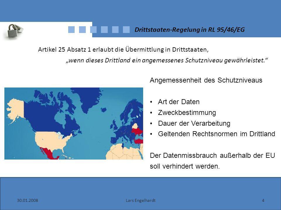 Drittstaaten-Regelung in RL 95/46/EG