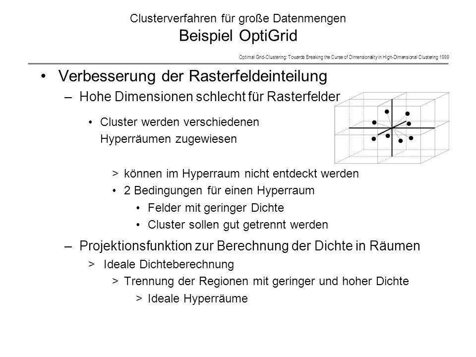 Clusterverfahren für große Datenmengen Beispiel OptiGrid